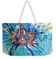Lion Fish Blue Weekender Tote Bag