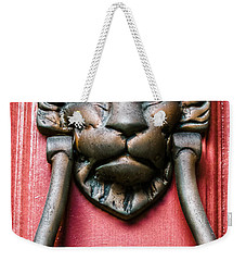 Lion Head Door Knocker Weekender Tote Bag