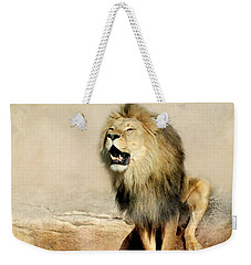 Lion Weekender Tote Bag by Heike Hultsch