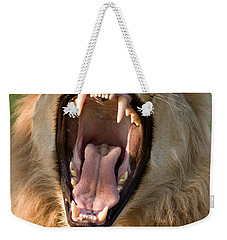 Lion Weekender Tote Bag by Johan Swanepoel