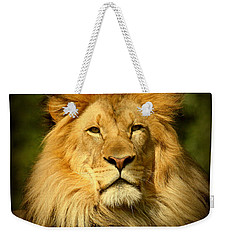 Lion King Weekender Tote Bag by Myrna Bradshaw