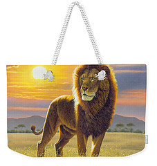 Lion Weekender Tote Bag by MGL Studio - Chris Hiett