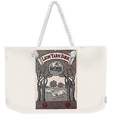 Antique Lion Yarn Book Weekender Tote Bag by Peter Gumaer Ogden