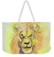 Lion Yellow Weekender Tote Bag