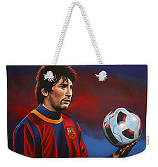 Lionel Messi 2 Weekender Tote Bag by Paul Meijering