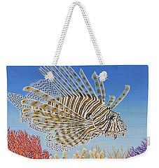 Lionfish And Coral Weekender Tote Bag