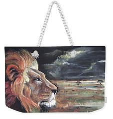 Lions Domain Weekender Tote Bag by Peter Suhocke