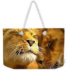 Lions In Love Weekender Tote Bag