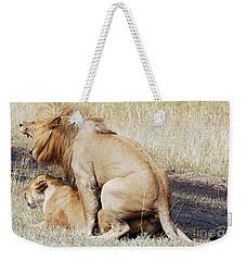 Lions Mating Weekender Tote Bag