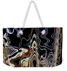 Weekender Tote Bag featuring the photograph Liquid Metal II by Pennie  McCracken