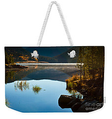 Weekender Tote Bag featuring the photograph Lite Early Morning Mist by Steven Reed