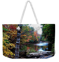Little Androscoggin River Weekender Tote Bag by Mike Breau