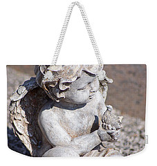 Little Angel With Bird In His Hand - Sculpture Weekender Tote Bag