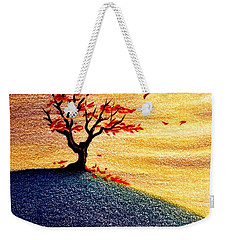 Little Autumn Tree Weekender Tote Bag by Danielle R T Haney