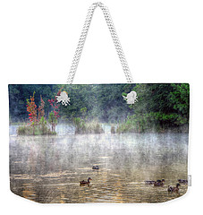 Weekender Tote Bag featuring the photograph Little Bit Of Fall by Charlotte Schafer