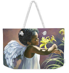 Little Black Angel Weekender Tote Bag
