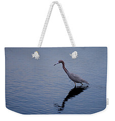 Weekender Tote Bag featuring the photograph Little Blue Heron On The Hunt by John M Bailey