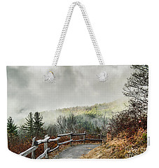 Weekender Tote Bag featuring the photograph Little Cataloochee Overlook In The Great Smoky Mountains by Debbie Green