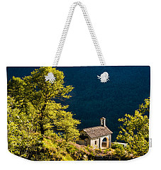 Little Chapel In Ticino With Beautiful Green Trees Weekender Tote Bag by Matthias Hauser