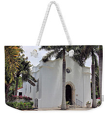Weekender Tote Bag featuring the photograph Little Church On Boca Grande by Rosalie Scanlon