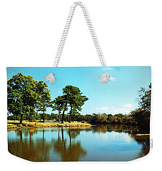 Weekender Tote Bag featuring the photograph Little Creek by Angela DeFrias