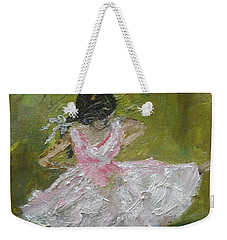 Weekender Tote Bag featuring the painting Little Dansarina by Reina Resto