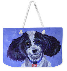 Little Dog Blue Weekender Tote Bag