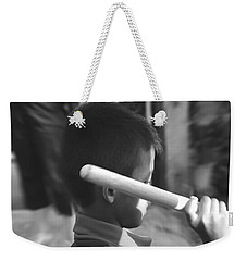 Weekender Tote Bag featuring the photograph Little Drummer by Michelle Meenawong
