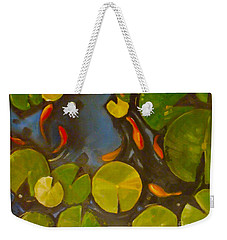 Little Fish Koi Goldfish Pond Weekender Tote Bag
