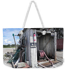 Weekender Tote Bag featuring the photograph Little Gas Shack by Patricia Greer