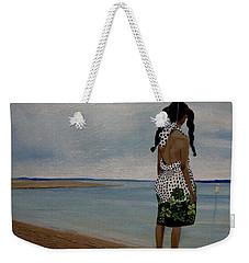 Little Girl On The Beach Weekender Tote Bag