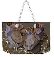 Weekender Tote Bag featuring the photograph Little Girls To Pearls by Sharon Elliott