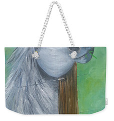 Little Grey Has An Itch Weekender Tote Bag