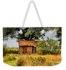 Weekender Tote Bag featuring the photograph Little House On The Prairie by Peggy Franz