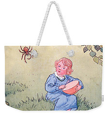 Little Miss Muffet Weekender Tote Bag by Leonard Leslie Brooke