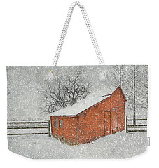 Little Red Barn Weekender Tote Bag by Juli Scalzi
