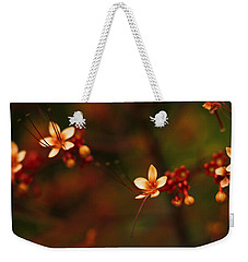 Little Red Flowers Weekender Tote Bag