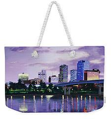 Little Rock Skyline Weekender Tote Bag