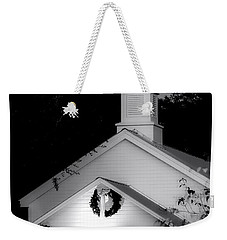 Little White Church Bw Weekender Tote Bag