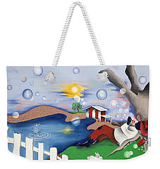 Live Out The Bubble Weekender Tote Bag
