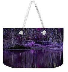 Living In A Purple Dream Weekender Tote Bag by Linda Unger