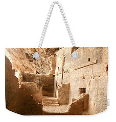 Weekender Tote Bag featuring the photograph Living In The Rocks by Kerri Mortenson