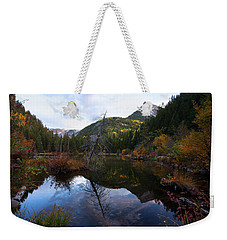Weekender Tote Bag featuring the photograph Lizard Lake by Jim Garrison