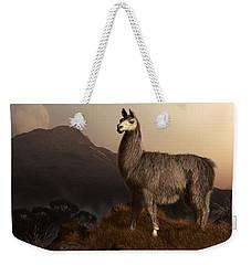 Llama Dawn Weekender Tote Bag