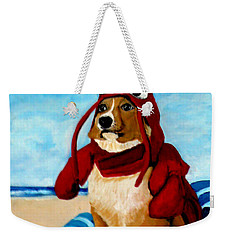 Lobster Corgi On The Beach Weekender Tote Bag