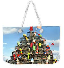 Lobster Traps Christmas Tree Weekender Tote Bag