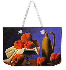 Local Peaches Oil Painting Weekender Tote Bag