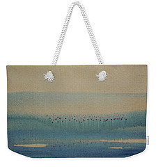 Weekender Tote Bag featuring the painting Loch Of My Heart by Mini Arora