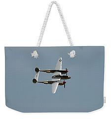 Lockheed P 38 Lightning Weekender Tote Bag by Richard J Cassato