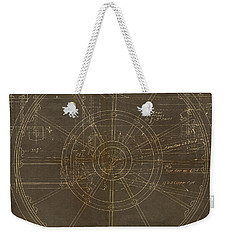 Weekender Tote Bag featuring the painting Locomotive Wheel by James Christopher Hill